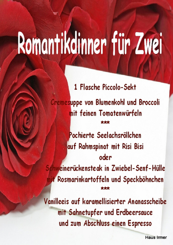 Romantikdinner zum Valentinstag