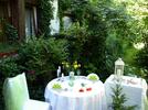 gedeckter Tisch Terrasse